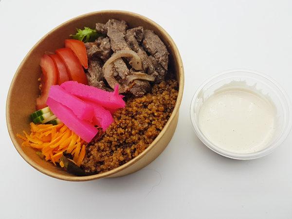 Pokebowl shawarma à la viande de boeuf